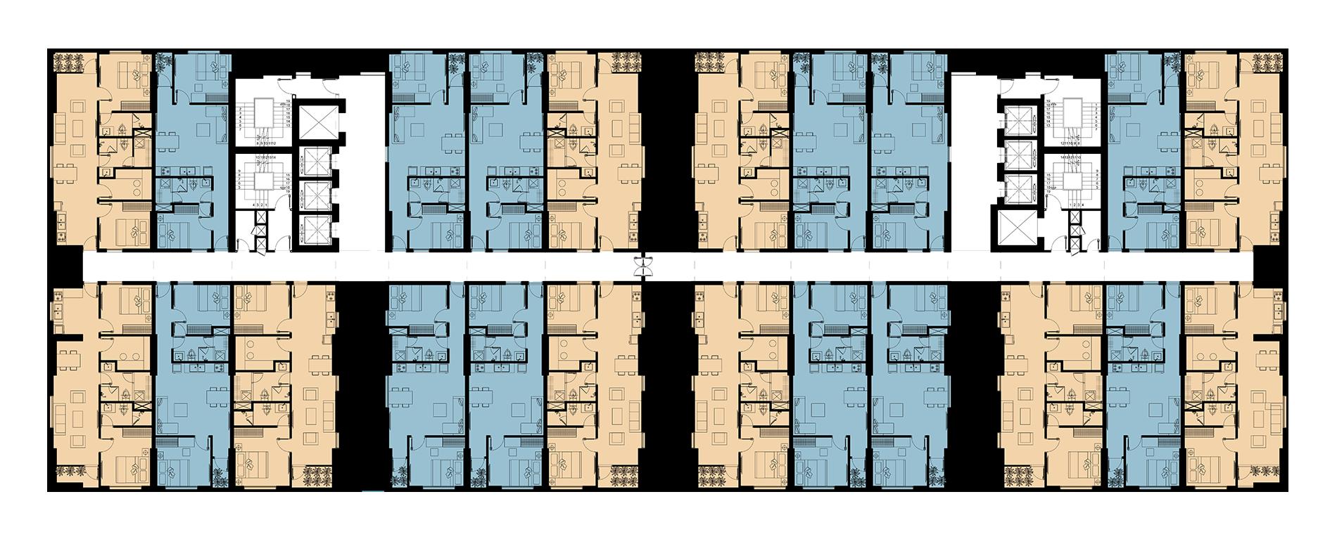 Mặt bằng tầng 4 – 38 dự án Napoleon Castle I Nha Trang